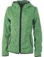 Ženski Knitted flis Hoody J&N / JN588
